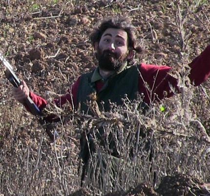 Enrique Cortines cazando